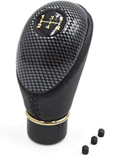 uxcell 13mm Dia Black Carbon Fiber Pattern 5 Speed Manual Stick Gear Shift Knob for Car