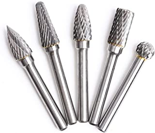 Sponsored Ad – 5 Pcs Tungsten Carbide Rotary Burrs Set 8mm Tungsten Steel Double Cut Rotary Files Point Burrs Die Grinder ...