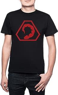 Fraternidad de Cabecear Hombre Camiseta Cuello Redondo Negro Manga Corta Todos Los Tamaños Men's Black