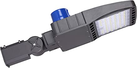 JOMITOP Led Shoe Box Light Pole 150W Slip Fit Mount,(450W Equivalent),5000K 21,000 Lumen,Outdoor Area Lighting,Street Parking Lot Lamp,AC 120-277V,120°Beam Angle,IP65,ETL DLC 4.0
