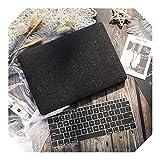 Funda mate para portátil MacBook Air 13 2020 Mac Book 2019 Retina Pro 13 15' Touch Bar A1989 A1990 + cubierta de teclado negro modelo A1466 A1369