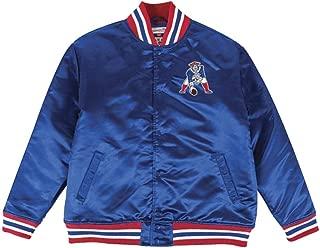 Mitchell & Ness Mens New England Patriots Satin Blue Jacket (4X)
