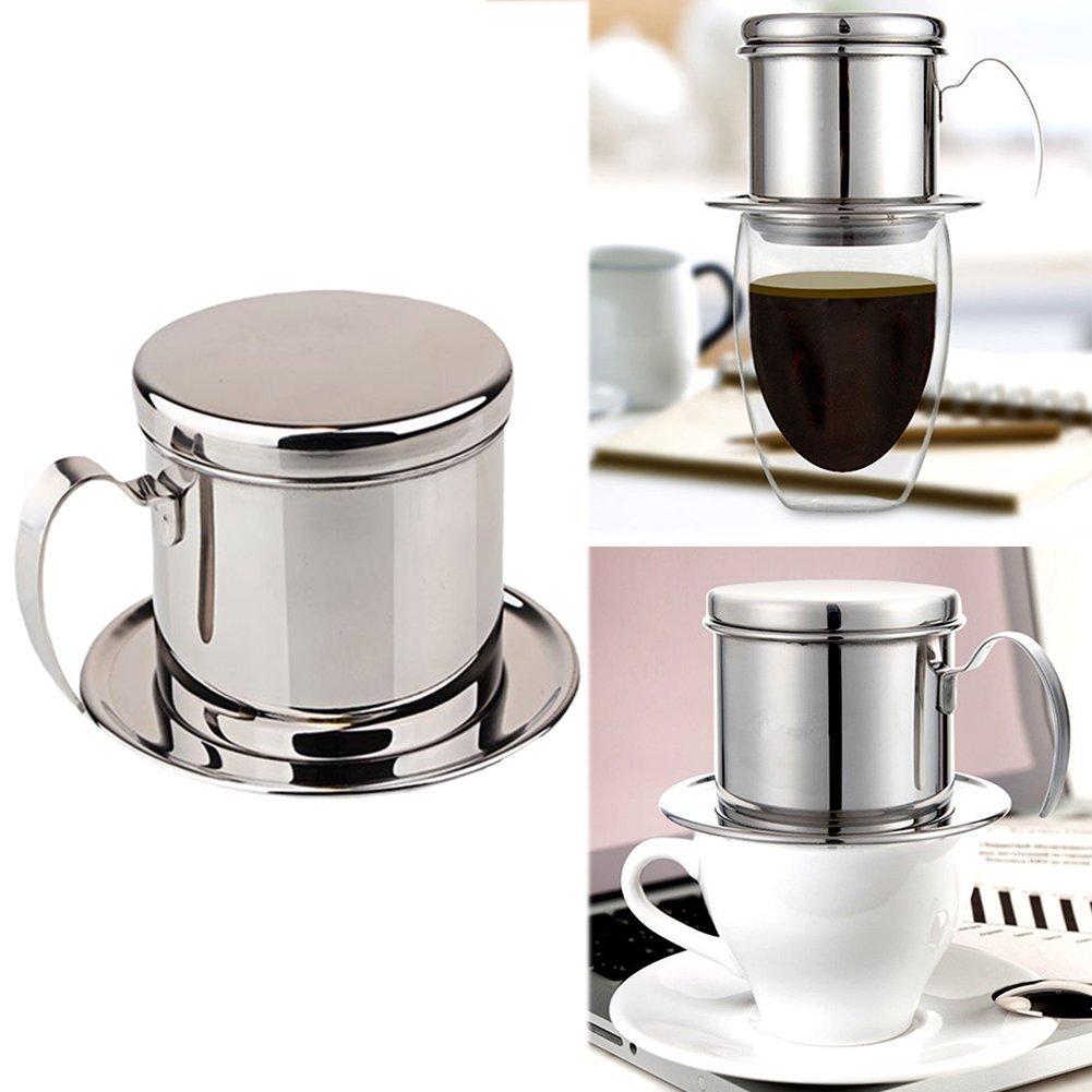 Cafetera de acero inoxidable Vietnam con filtro, 1 taza de café ...