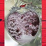 BANBERRY DESIGNS Invierno Escena cairel–Cristal Corazón Sun Catcher con Cardinals y árboles de Navidad–Ventana de diseño en Forma de corazón