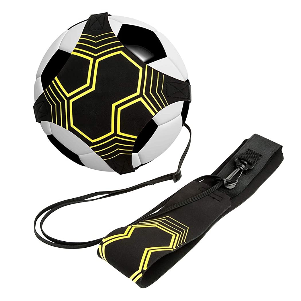 各緩むバンジョーRabbitStorm サッカー トレーナー 練習用ベルトトレーニングベルト ボール自主練用 シュート練習 サッカー練習用品 3、4、5号ボールに対応 ボールトレーニングキット
