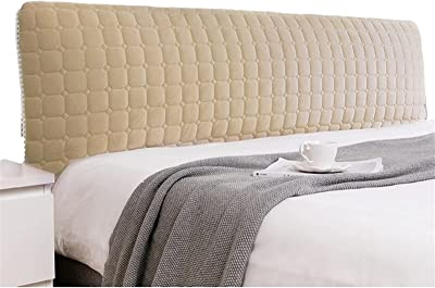Headboard Slipcover for Queen Size Bed Protector Stretch Dustproof Twin Full California King Beds Decorative Protectors (Color : Gold, Size : 150cm/59in)