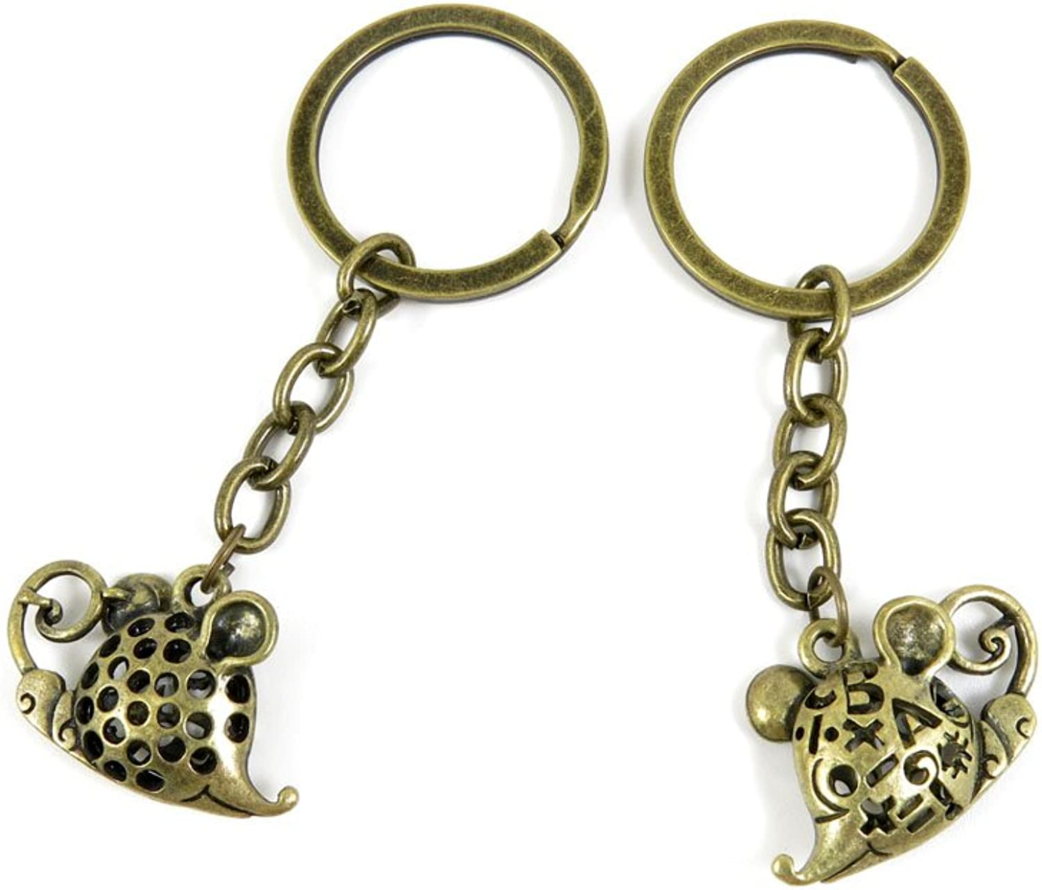 30 PCS Keyrings Keychains Key Ring Chains Tags Jewelry Findings Clasps Buckles Supplies Z0JW8 Mouse Rat