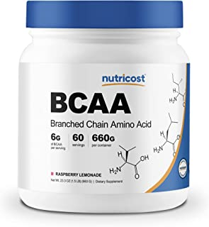 Nutricost BCAA Powder- 2:1:1 - (Raspberry Lemonade) 60 Servings