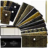 Cash Budget Envelopes Plastic System - 10 Large Waterproof Reusable Budget Envelopes - 10 Small Coin Envelopes - 24 Envelope Labels - 10 Budget Sheets and Premium Gift Box with Golden Pen Included
