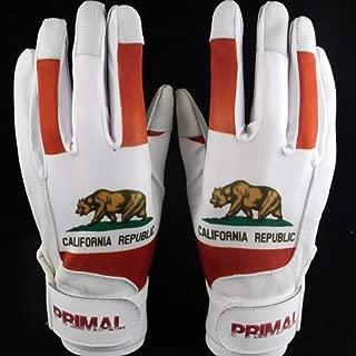 Primal Baseball California Bear Baseball Batting Gloves
