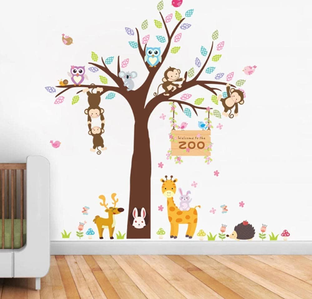 AAHPH Cartoon Animals Zoo Owl Monkey Latest item Wall Butterfly for Stickers Excellence
