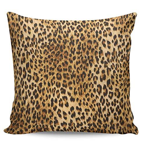 Fundas de Cojines Funda de cojín para sofá Almohada Dormitorio Coche Suave Decoración 45x45 cm Funda de Almohada de Leopardo