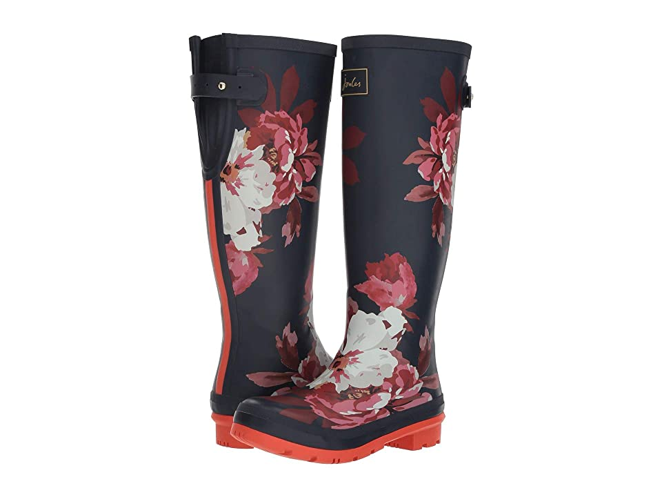 Joules Tall Welly Print (French Navy Bircham Bloom) Women