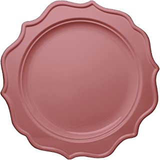 Posh Setting Festive Collection Medium Weight Plastic Pink Colored 10 inch Party Plates (12 Pack)