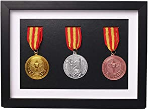 Massief houten medaille doos,Houten vitrinekast voor medailles en insignes van eer,Marathon medaille opbergdoos,Oorlog mil...