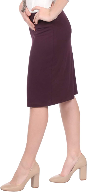 Kosher Casual Women's Modest Below The Knee Length Lightweight Double Layer Pencil Skirt