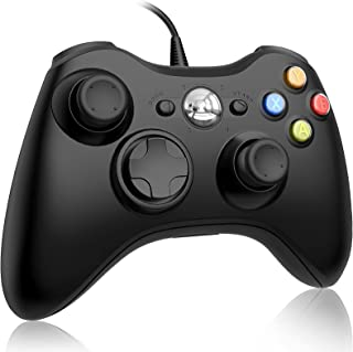 Ainoibo Xbox 360 Wired Controller for Microsoft Xbox 360 and Windows PC (Windows 10/8.1/8/7) Game Controller with Dual Vib...