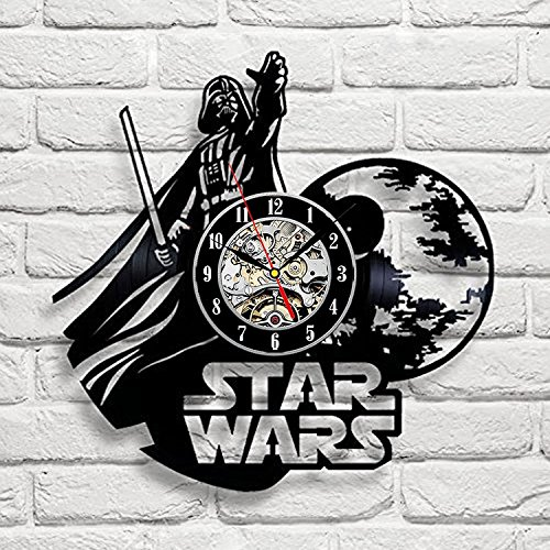 Meet Beauty Ding Star Wars Kunst Vinyl Wanduhr Geschenk Zimmer Modern Home Record Vintage Design Innenraum Dekoration-Geschenkidee für Männer