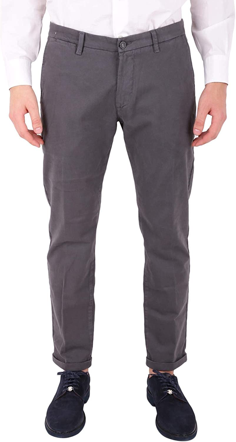 REHASH Men's P24920765403CR Grey Cotton Pants