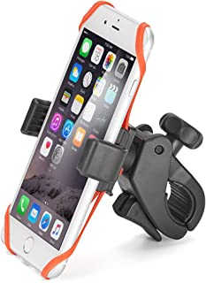 iKross Universal Bike/Motorcycle Phone Mount 360 Degree Rotation Handlebar Mount Phone Holder for iPhone X 8 7 Plus, Galaxy S9 S8 S7