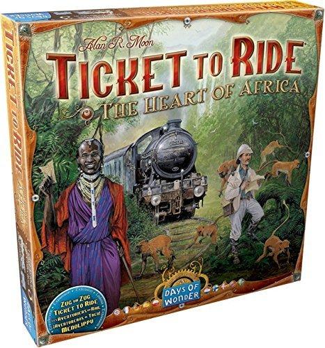 Asmodee Ticket to Ride - Im Herzen Afrikas Brettspiel, Erweiterung