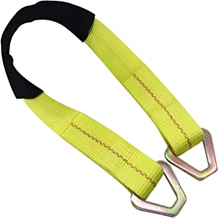 """KJE Axle Tie Down Strap, 2""""X36"""" Premium Axle Tie Down Strap with D-Ring Up to 10000lbs Capacity and Protective Sleeve-High Tension Proof & Heavy-Duty Design (2""""X36"""", 1PC)"""