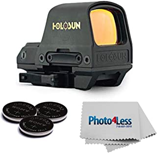 Holosun - HS510C MOA Open Reflex Circle Red Dot Sight + Sony Lithium 3V Coin Batteries, Qty 3 + Cleaning Cloth