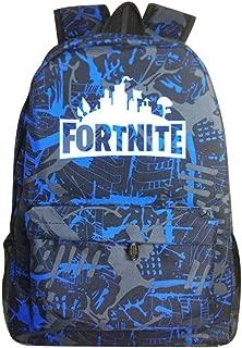 ZAINO FORTNITE scuola nero//azzurro 3 zip ORIGINALE