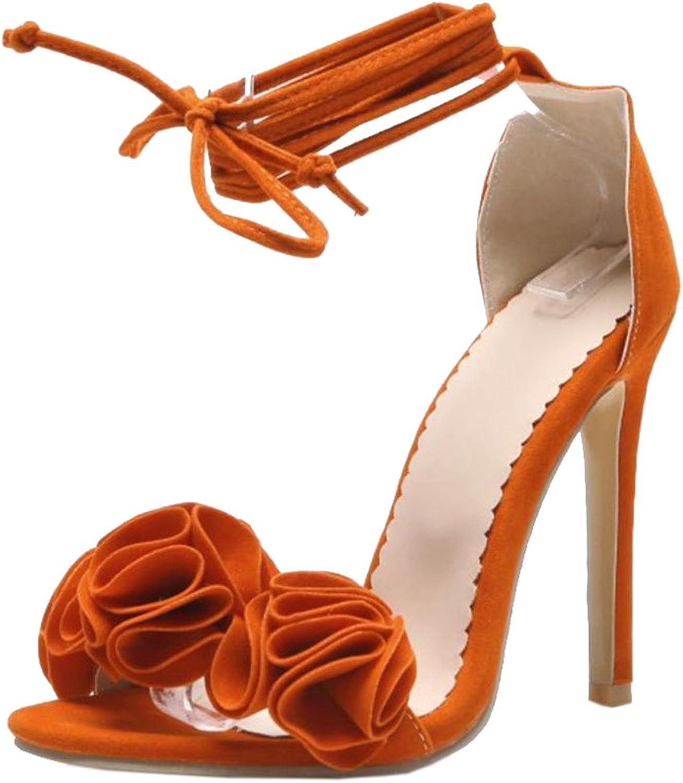 FizaiZifai Women Lace up Sandals High Heel