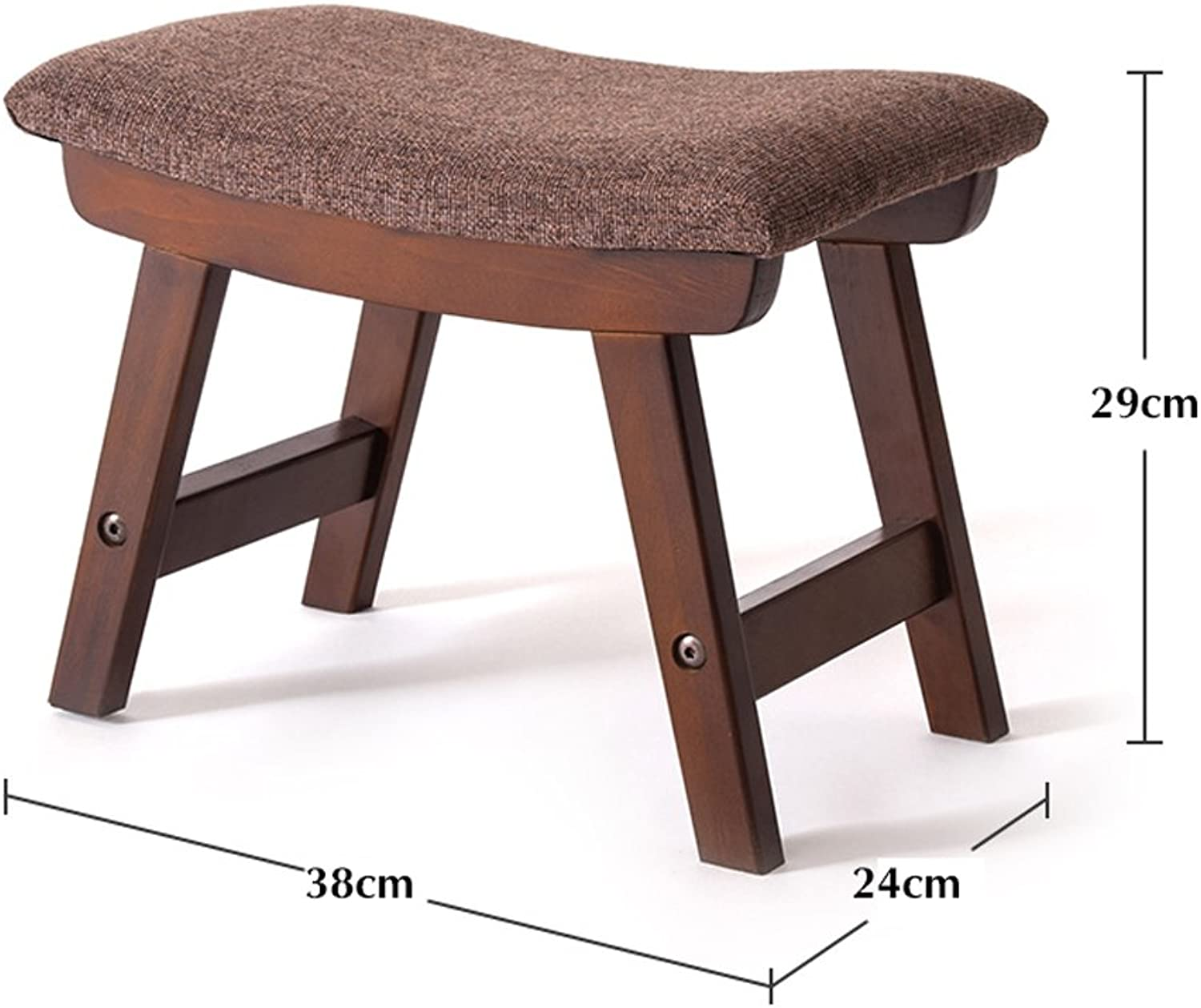 Stool Solid Wood Cloth Art Living Room Tea Table Sofa Footrest shoes Bench (color   7 )