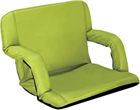 Naomi Home Venice Stadium Seat for Bleachers Portable Reclining with Armrest Lime Green/Standard