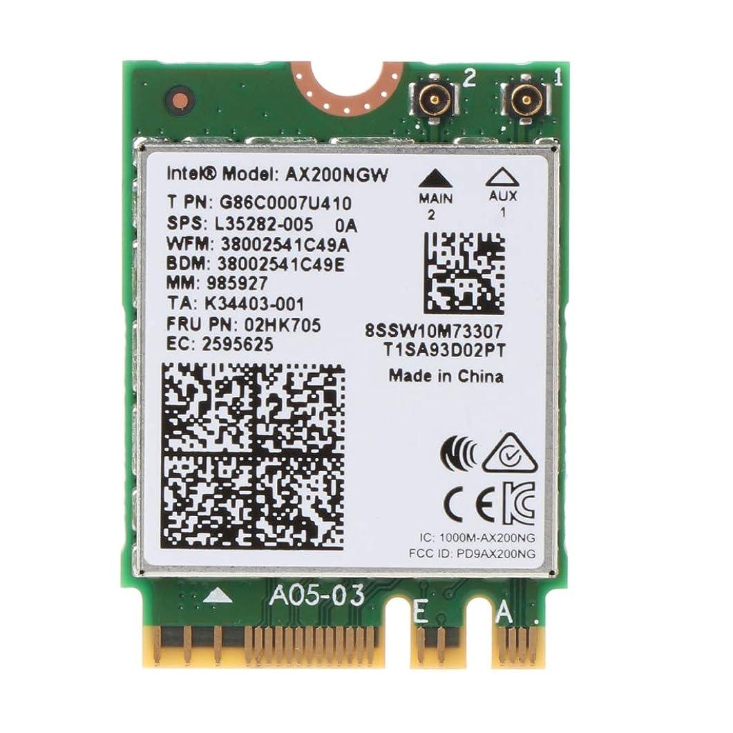 効率ストライド進むbbbbaby インテルWi-Fi 6 AX200 802.11axデュアルバンドMU-MIMO WiFi WLANネットワークカードBluetooth 5.0ワイヤレスカード