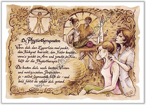 Die Staffelei Geschenk Physiotherapie Physiotherapeut Zeichnung Color 30 x 21 cm