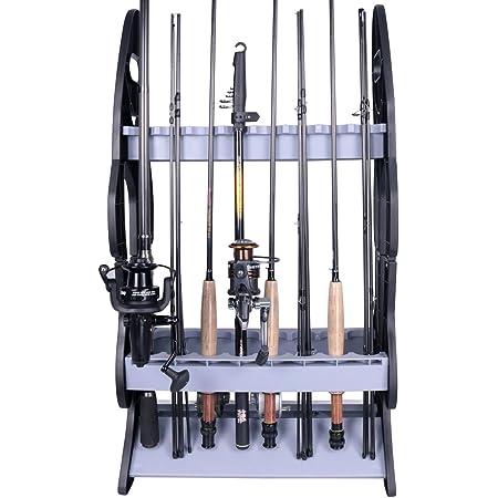 Dioche Leichter Angelrutenst/änder Aluminiumlegierung Fishing Rod Storage Rack Angelruten-Organizer St/änder f/ür 12 Ruten 44,5 x 50 x 32,5 cm