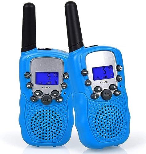 WANFEI 2 x Talkie Walkie Enfants, Radio à 2 Voies avec 8 Canaux Écran LCD Lampe de Poche VOX 10 Tonalités d'Appel Ver...
