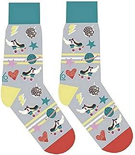 Roller Skates, Disco Ball, Hearts Women's Crew Socks by Yo Sox - Disco Derby