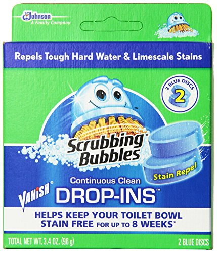 Vanish Drop-Ins Automatic Toilet Bowl Cleaner - Blue, 1.70 Ounce (Pack of 12)