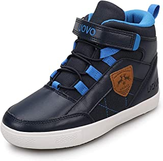 UOVO Boys Shoes Boys Sneakers Kids Running Shoes Waterproof Little Big Boy Shoes Hi Top Sport Athletic Boys Boots Shoes