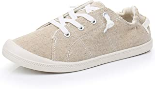 Real Fancy Women's Comfort Slip-On Canvas Sneaker Casual Shoes/Comforting Walking Flats (Natural)