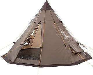 CampFeuer – tipi-tält (teepee) – indiantält, brun/ljusbrun