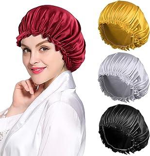 Extra Long Satin Bonnet for Women Braids,Double-Layer Reversible Sleep Cap