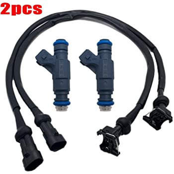Sportsman 800 05-14 Replace 1202863 1253558 RZR 800 08-10 Ranger 700 05-09 Sportsman 700 EFI 04-08 Unlimited Rider 2PCS Repair Fuel Injector Connector Pigtail Harness For Polaris Ranger 800 2010