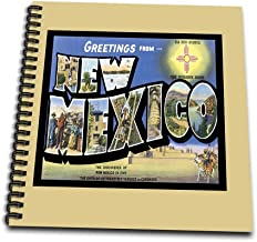 3dRose db_170357_2 Greetings from New Mexico Scenic Postcard Reproduction-Memory Book, 12 by 12-Inch