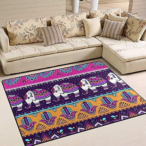 Sweet-Heart Étnica Paisley Elephant Area Alfombra Alfombra Decoración para el hogar Dormitorio Dormitorio Sala Comedor Cocina Oficina