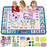 CGBOOM Doodle Tappeto Magico , Acqua Doodle Tappeto Bambini Grandi Disegno Mat 100x 80 cm con 4 Penne Magiche e Colorato Libretto di Disegni, Regalo Giocattolo Educativo per Bambini