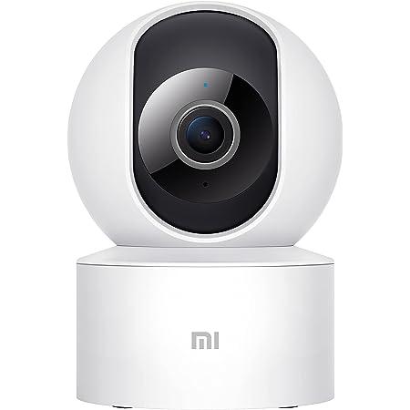 Xiaomi Cámara Mi 360° (1080p), cámara de vigilancia, Vista a 360°, resolución 1080p, detección Humana AI, Control de Voz, Soporte tecnología WDR, Blanco, versión Italiana