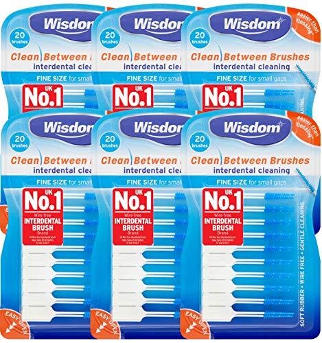 6x Wisdom Clean Between Interdental Brushes - Pack...