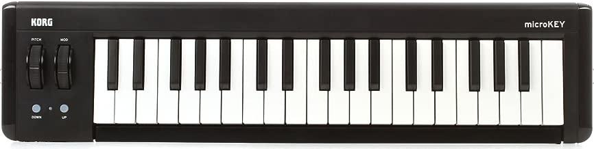 KORG microKEY2 37-Key iOS-Powerable USB MIDI Micro Keyboard Controller - Black