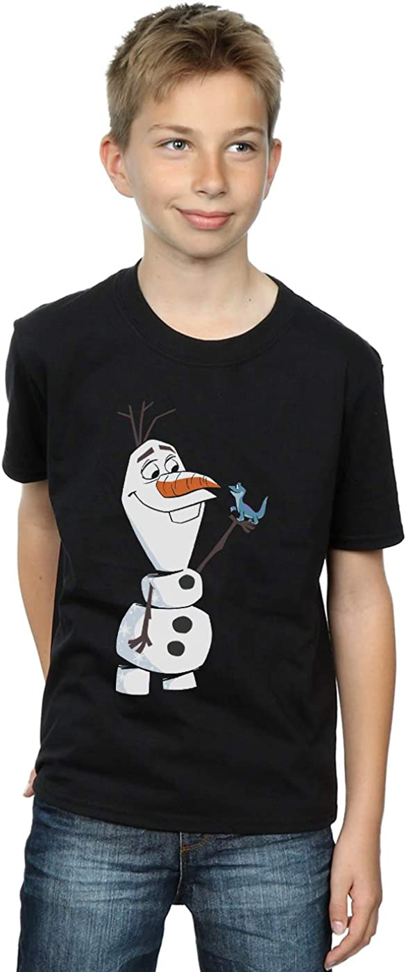 Disney Gar/çon Frozen 2 Olaf and Salamander T-Shirt
