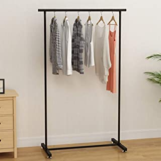 GPFDM Floor-Standing Folding Drying Rack Metal Clothing Garment Rack  Indoor Single-Pole Drying Rack  Bedroom Home Simple Hanger A